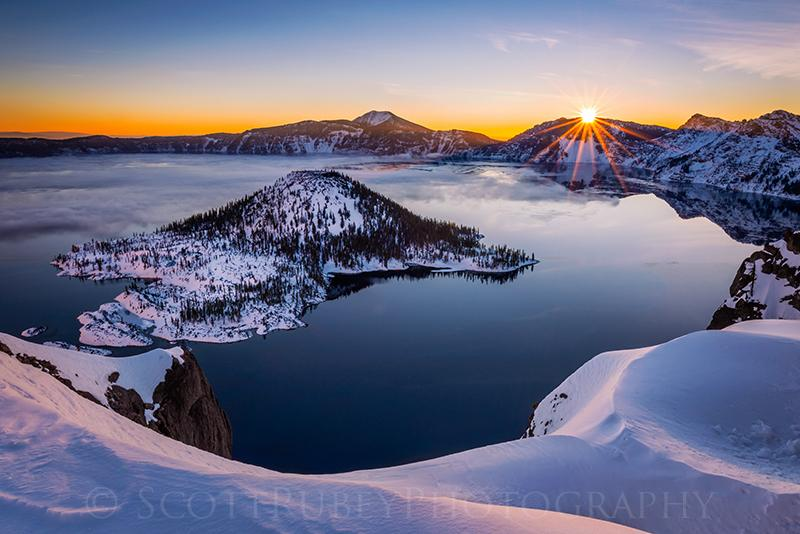 Quot First Rays On Crater Lake Quot By Scott Rubey Outdoor