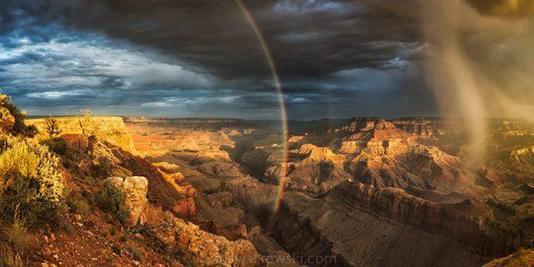 "Congratulations to Kris Walkowski for winning the Stormscapes Assignment with the image, ""The Grace Within The Canyon,"" a six-image panorama taken at Lipan Point at the South Rim of the Grand Canyon."