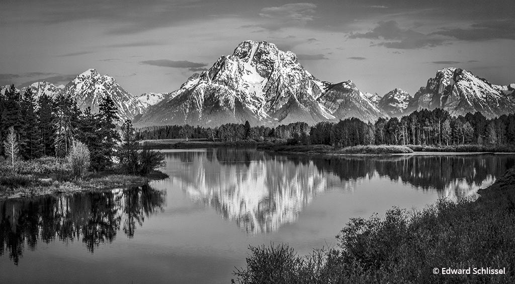 "Today's Photo Of The Day is ""Oxbow Bend"" Edward Schlissel. Location: Grand Teton National Park, Wyoming."