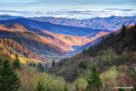 """Today's Photo Of The Day is """"Sunset at Newfound Gap"""" by Michael Swindle. Location: Great Smoky Mountain National Park, Tennessee."""