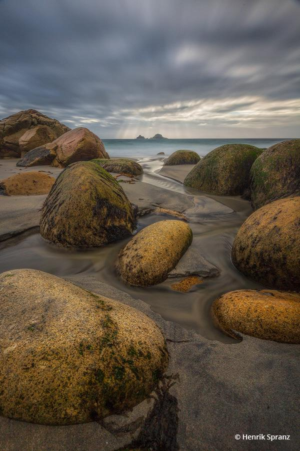 """Today's Photo Of The Day is """"Dinosaur Egg Beach"""" by Henrik Spranz. Location: Cornwall, England."""