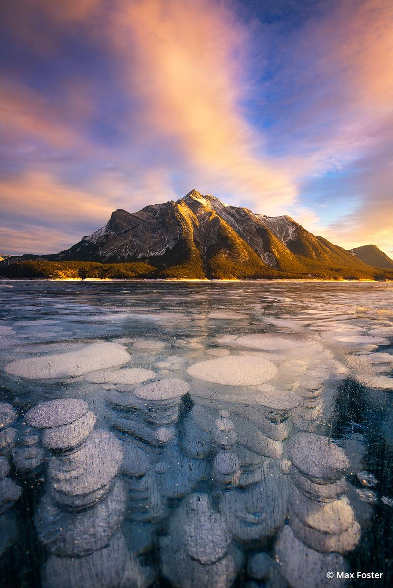 """Today's Photo Of The Day is """"Brilliant Depths"""" by Max Foster. Location: Abraham Lake, Canadian Rockies."""