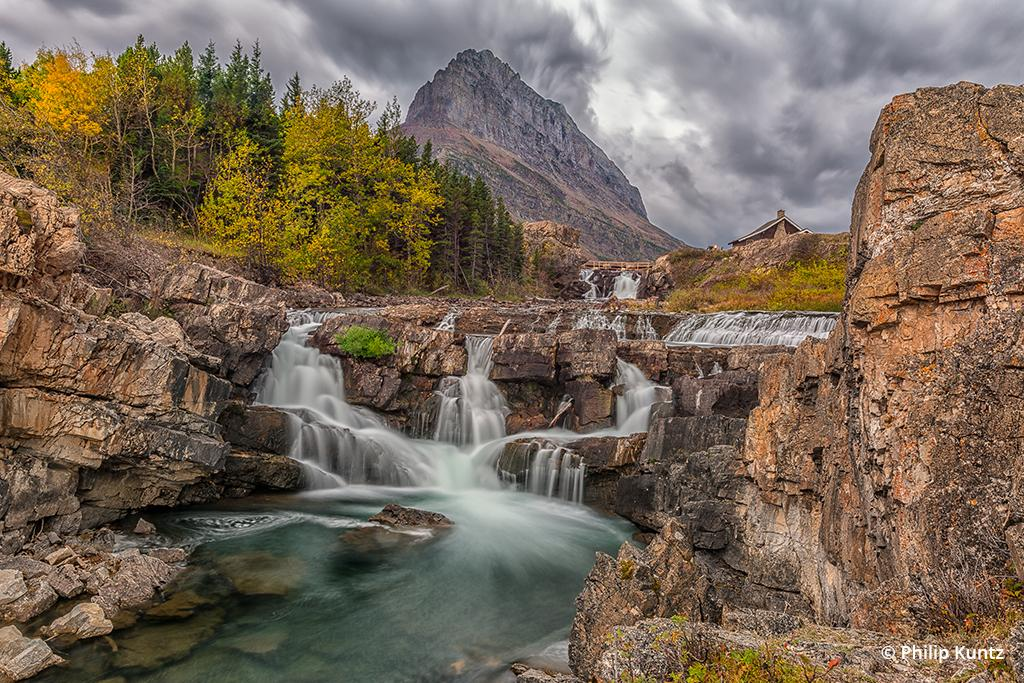 Swiftcurrent Falls, Glacier National Park, Montana