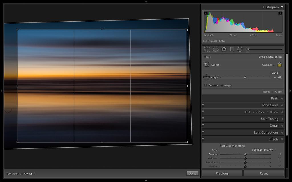 RAW Workflow - Crop Overlay