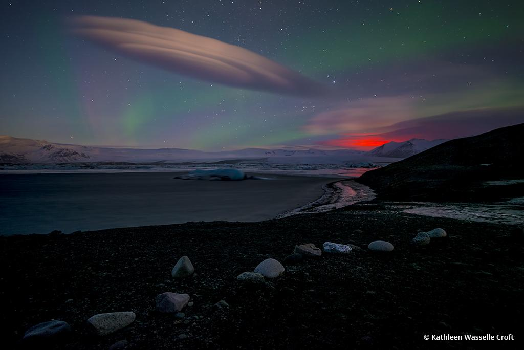 Today's Photo Of The Day is Volcano Glow by Kathleen Wasselle Croft. Location: Jokulsarlon Lake, Iceland.