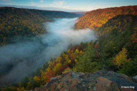"Today's Photo Of The Day is ""Foggy River Breakdown"" by Kevin King. Location: Blackwater Falls State Park, West Virginia."