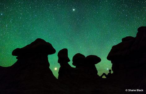 Night time-lapse photography - Goblin Valley