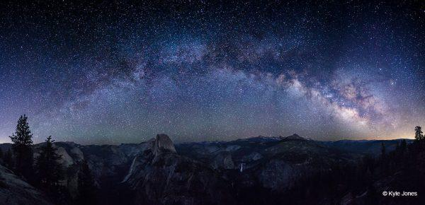 Today's Photo Of The Day is Milky Arch Over Half Dome by Kyle Jones. Location: Yosemite National Park, California.