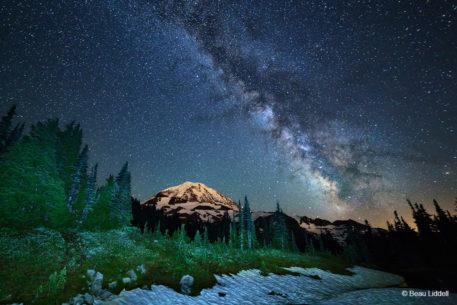 "Today's Photo Of The Day is ""Light in the Dark"" by Beau Liddell. Location: Mt. Rainier National Park, Washington."