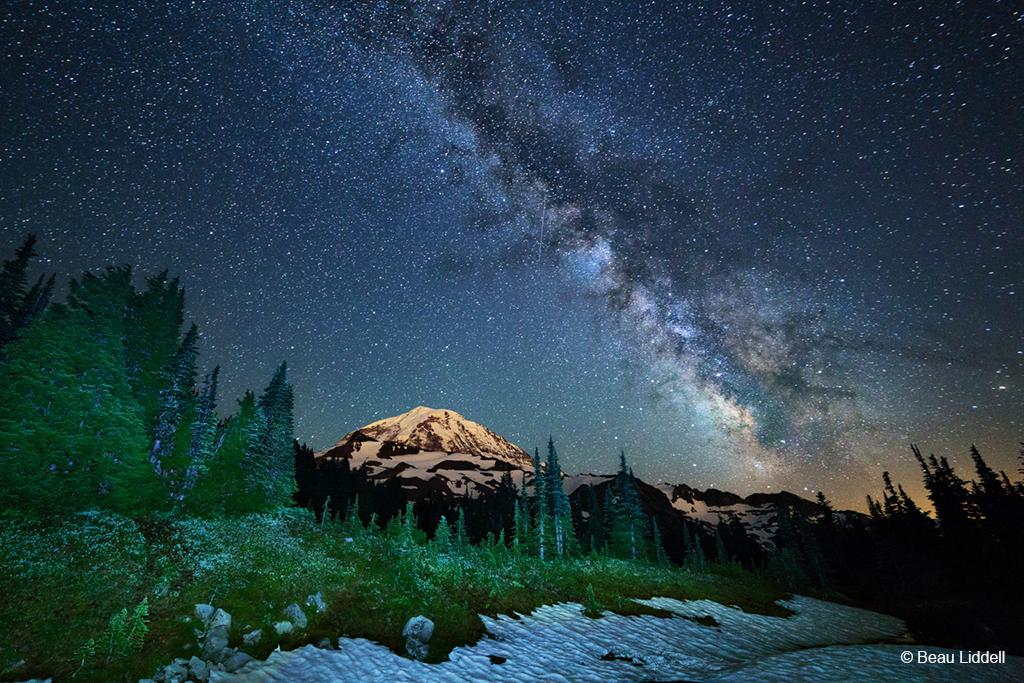 """Today's Photo Of The Day is """"Light in the Dark"""" by Beau Liddell. Location: Mt. Rainier National Park, Washington."""