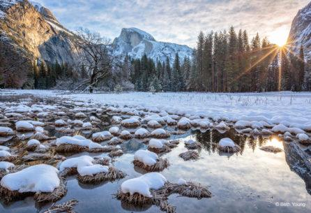 "Today's Photo Of The Day is ""Cook's Meadow Winter Sunrise"" by Beth Young. Location: Yosemite National Park, California."