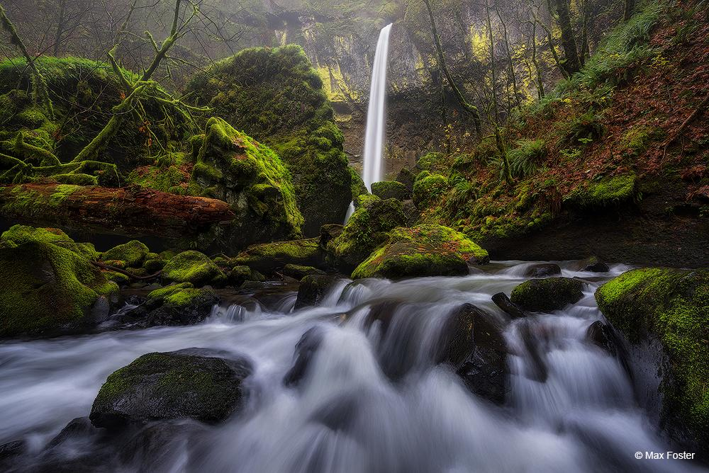 """Today's Photo Of The Day is """"Through The Mist"""" by Max Foster. Location: Elowah Falls, Oregon."""