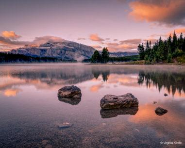 "Today's Photo Of The Day is ""Two Jack Lake at Sunrise"" by Virginia Kickle. Location: Banff National Park, Alberta, Canada."