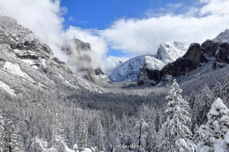 """Today's Photo Of The Day is """"Winter Blue"""" by Erick Castellon. Location: Yosemite Valley, California."""
