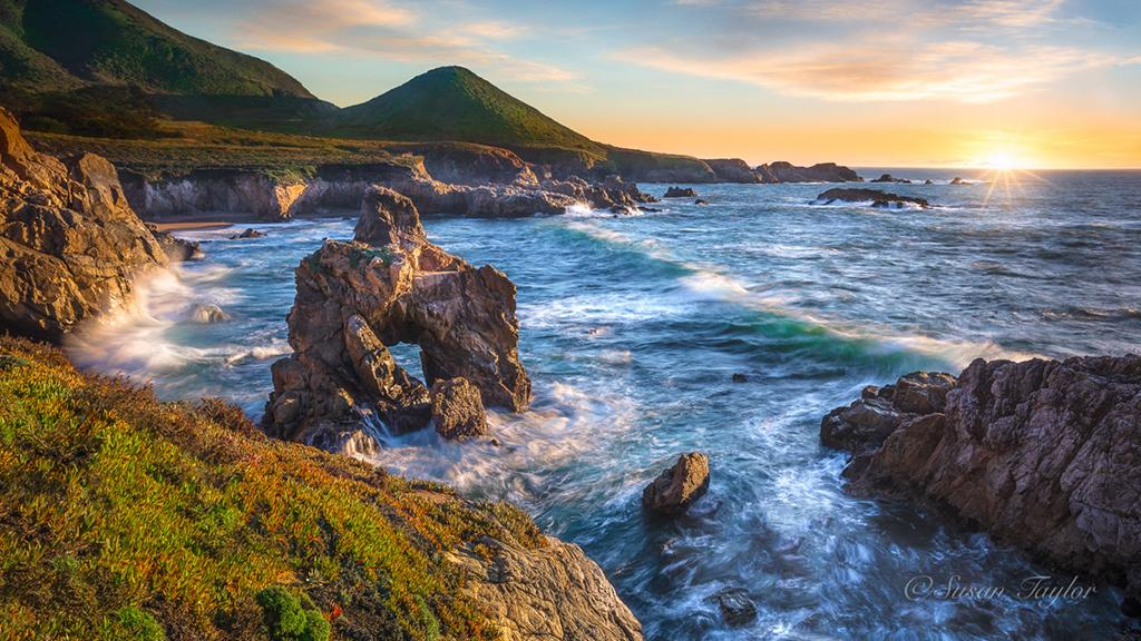 "Today's Photo Of The Day is ""Soberanes Point Sunset, Big Sur"" by Susan Taylor. Location: Garrapata State Park, California."
