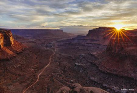 "Today's Photo Of The Day is ""Shafer Canyon Sunrise"" by Laura Zirino. Location: Canyonlands National Park, Utah."