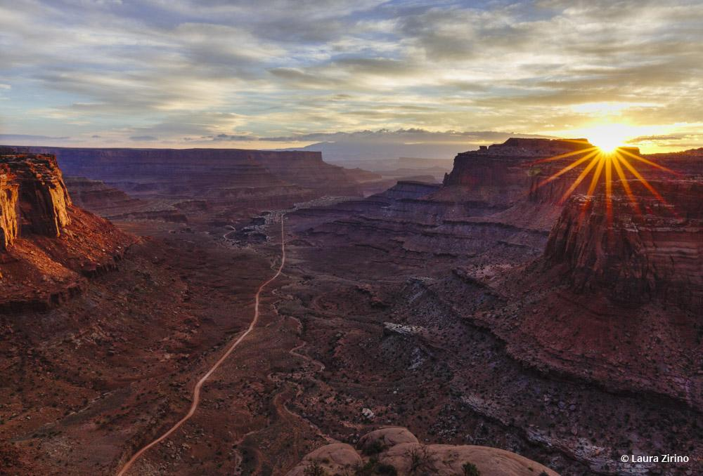 """Today's Photo Of The Day is """"Shafer Canyon Sunrise"""" by Laura Zirino. Location: Canyonlands National Park, Utah."""