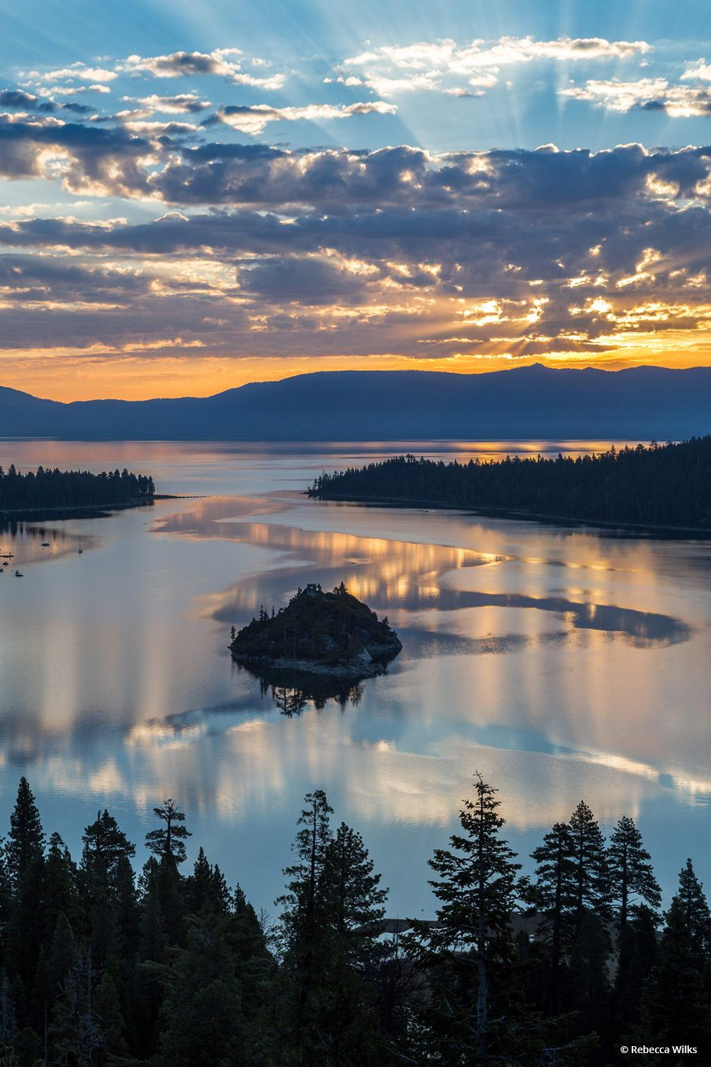 """Today's Photo Of The Day is """"Emerald Bay Sunrise"""" by Rebecca Wilks. Location: Lake Tahoe, California."""