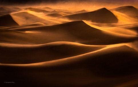 """Today's Photo Of The Day is """"Dune to Dusk"""" by Sangeeta Dey. Location: Death Valley National Park, California."""