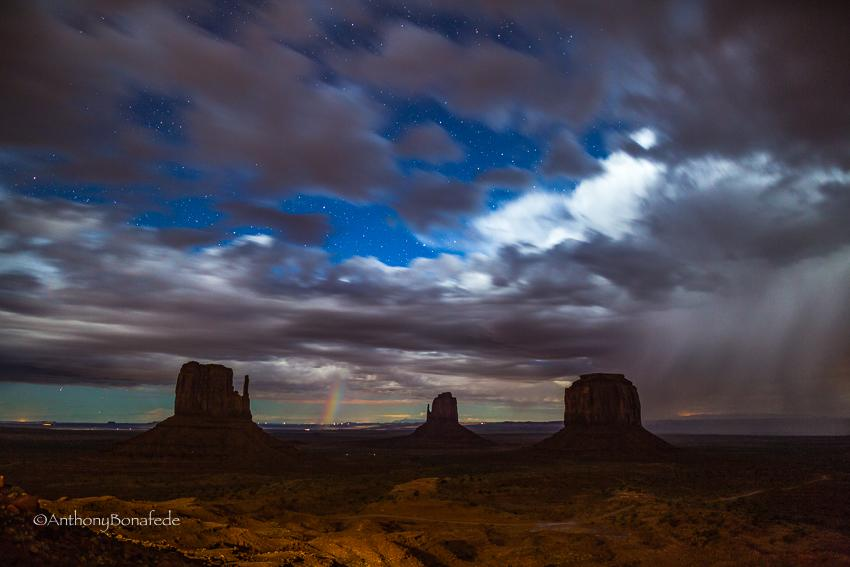 """Today's Photo Of The Day is """"Midnight Storm"""" by Anthony Michael Bonafede. Location: Monument Valley, Arizona."""
