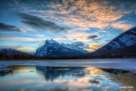 """Today's Photo Of The Day is """"Sunrise, Vermilion Lake and Mount Rundle"""" by Roger Hostin. Location: Banff, Alberta, Canada."""