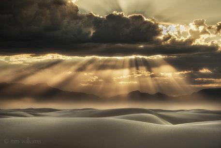 """Today's Photo Of The Day is """"Sandstorm Brilliance"""" by Tim Williams. Location: White Sands National Monument, New Mexico."""