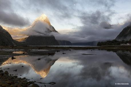 "Today's Photo Of The Day is ""Mitre Peak Alpenglow"" by Alex Baranda. Location: Milford Sound, New Zealand."