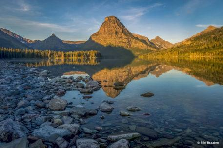 "Today's Photo Of The Day is ""First Light at Two Medicine Lake"" by Erin Braaten. Location: Glacier National Park, Montana."
