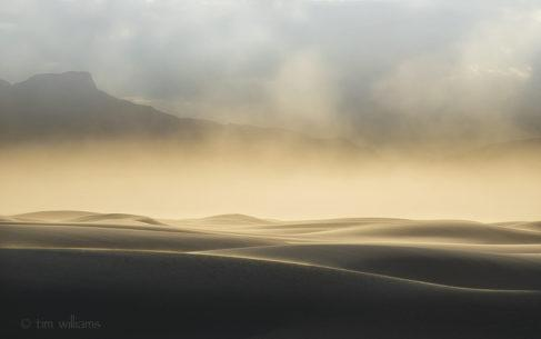 "Today's Photo Of The Day is ""Sandstorm Light"" by Tim Williams. Location: White Sands National Monument, New Mexico."