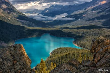 "Congratulations to Philip Kuntz for winning the recent View From Above Assignment with the image ""Pretty Peyto."""
