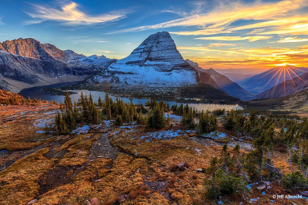 """Today's Photo Of The Day is """"Stanton Star Sunset"""" by Jeff Albrecht. Location: Glacier National Park, Montana."""