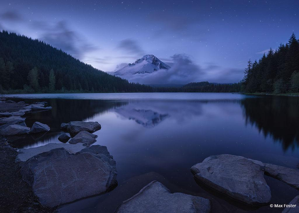 """Today's Photo Of The Day is """"Trillium Twilight"""" by Max Foster. Location: Trillium Lake, Oregon."""