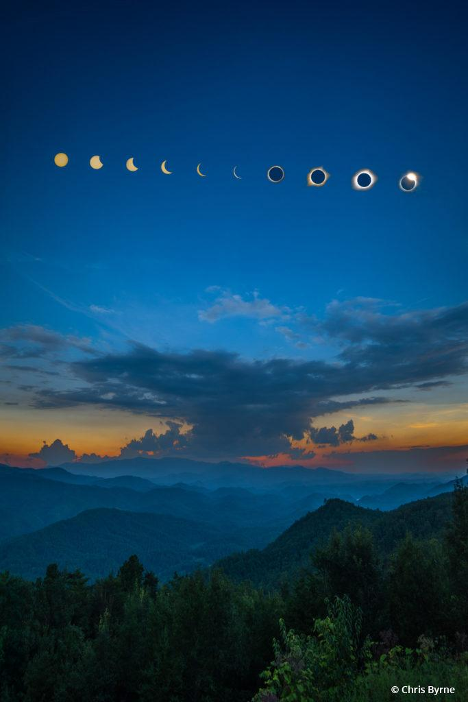 """Today's Photo Of The Day is """"Great Smoky Mountains Eclipse"""" by Chris Byrne. Location: Great Smoky Mountains National Park, Tennessee."""