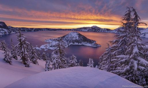 "Today's Photo Of The Day is ""Promise of Dawn"" by Alexandre Patrier. Location: Crater Lake, Oregon."