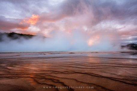 "Today's Photo Of The Day is ""Grand Prismatic Sunset"" by Kyle Jones. Location: Yellowstone National Park, Wyoming."