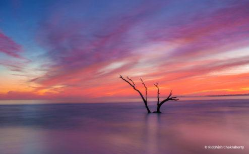"Today's Photo Of The Day is ""Folly Beach Sunset"" by Riddhish Chakraborty. Location: Folly Beach, South Carolina."