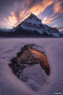 "Today's Photo Of The Day is ""Flaming Peak"" by Max Foster. Location: Banff, Alberta."