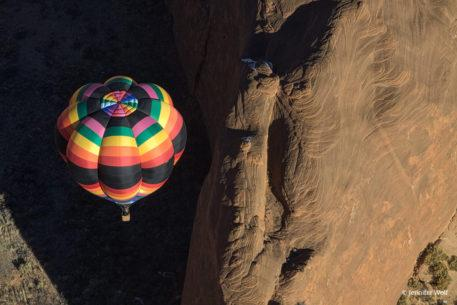 "Today's Photo Of The Day is ""My View"" by Jennifer Wolf. Location: Red Rock Balloon Rally, Red Rock, New Mexico."
