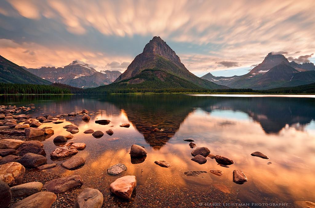 """Today's Photo Of The Day is """"Mammatus Evening Many Glacier"""" by Harry Lichtman. Location: Glacier National Park, Montana."""