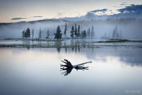"Today's Photo Of The Day is ""Morning on Pelican Creek"" by Jon Berndt. Location: Yellowstone National Park, Wyoming."
