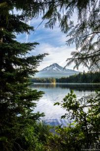 "Today's Photo Of The Day is ""Nature's Window"" by Kayte Dolmatch. Location: Trillium Lake, Oregon."