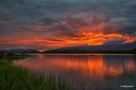 """Today's Photo Of The Day is """"Lucky Sunrise Canoeist"""" by Philip Kuntz."""