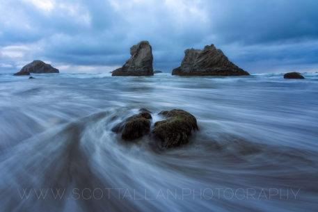 "Today's Photo Of The Day is ""Ocean Swirl"" by Scott Allan. Location: Bandon, Oregon."