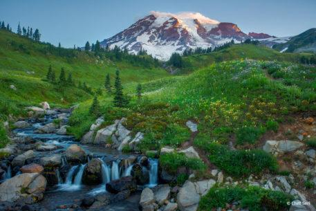 "Today's Photo Of The Day is ""Sunrise over Mount Rainier"" by Chet Seri. Location: Mount Rainer National Park, Washington."