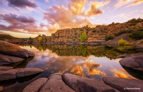 "Today's Photo Of The Day is ""Weekend Sunset"" by Theresa Ditson. Location: Watson Lake, Prescott, Arizona."