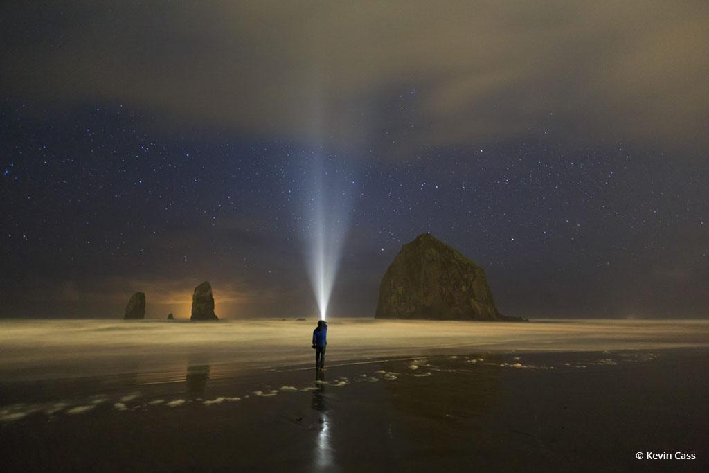 """Today's Photo Of The Day is """"Cannon Beach Night Walk"""" by Kevin Cass. Location: Oregon."""