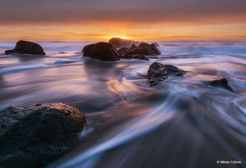 """Today's Photo Of The Day is """"Running Water"""" by Menx Cuizon. Location: Bodega Bay, California."""