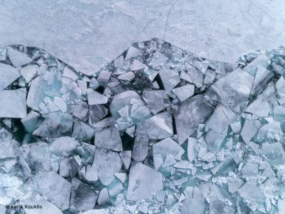 Drones for landscape photography, image of pack ice