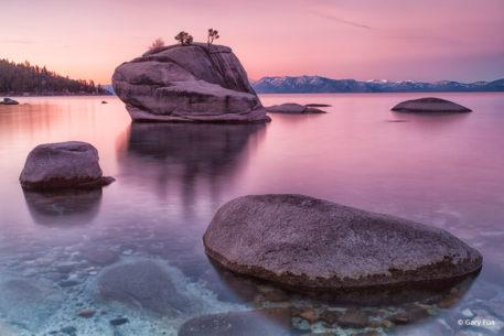 """Today's Photo Of The Day is """"Sonnet"""" by Gary Fua. Location: Bonsai Rock, Lake Tahoe, Nevada."""