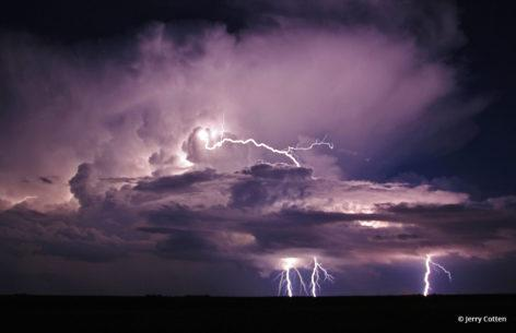 """Today's Photo Of The Day is """"Texas Lightning"""" by Jerry Cotten."""